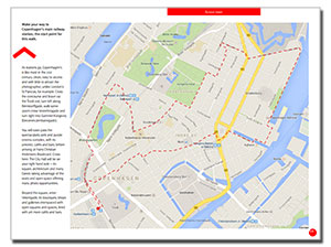 Sample map of a self-guided walk in DearSusan's InSight: Copenhagen ebook