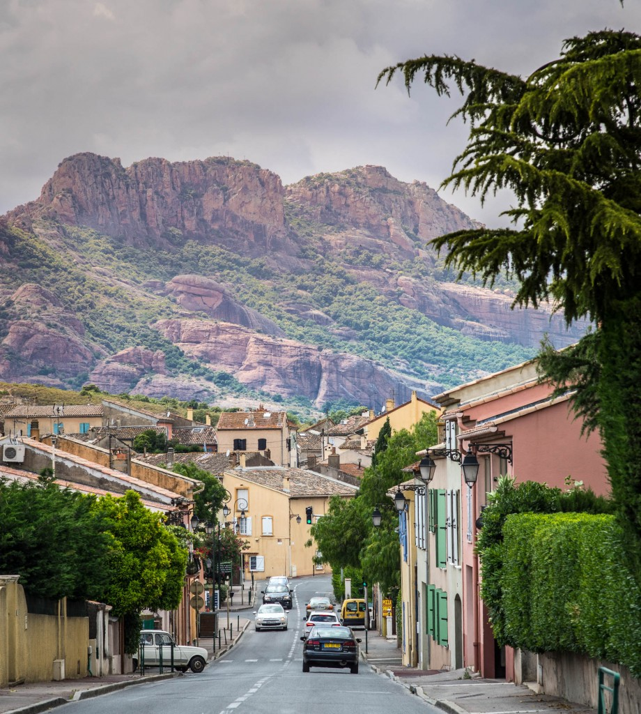 The Rocher de Roquebrune seen from the streets of Roquebrune sur Argens