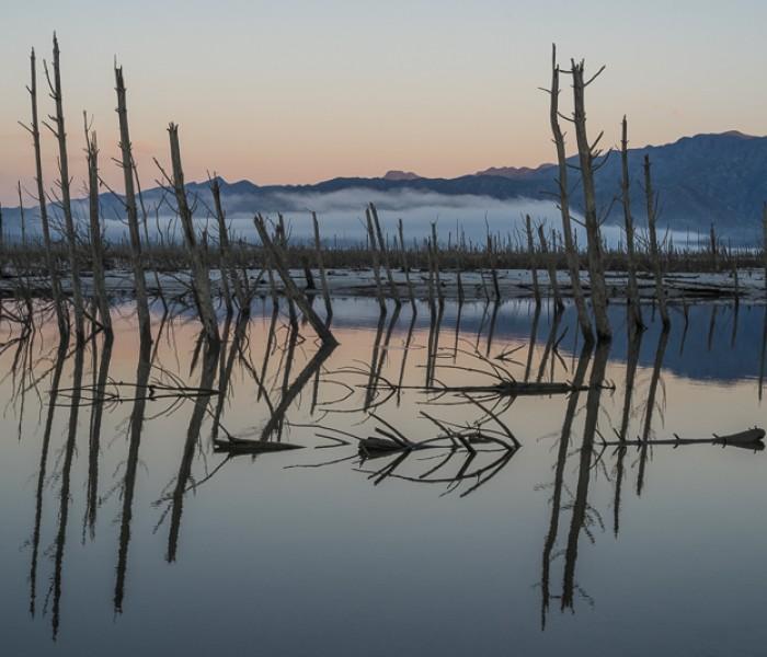 #347. Misty sunrise at Theewaterskloof Dam