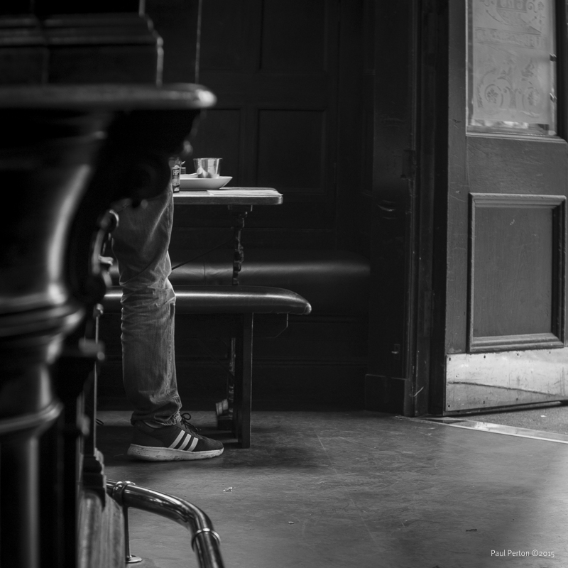 Lone drinker, The Abbotsford, Edinburgh