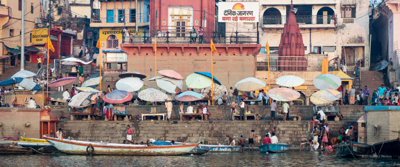 Sunrise ceremonies, Varanasi