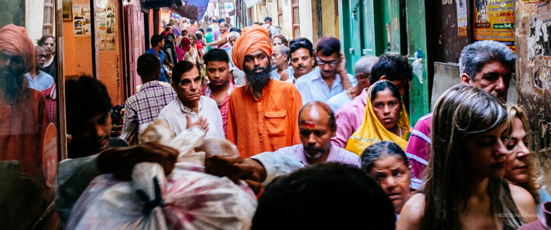 Queue to enter the Golden Temple, Varanasi