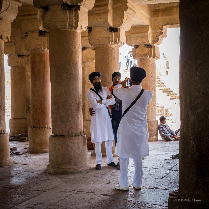 Sikh pilgrims, Gwalior. Fuji X100T @ f2.8