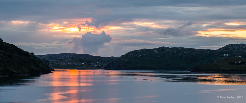 Sunset at Rhiconich. Fuji X-Pro2. Paul Perton