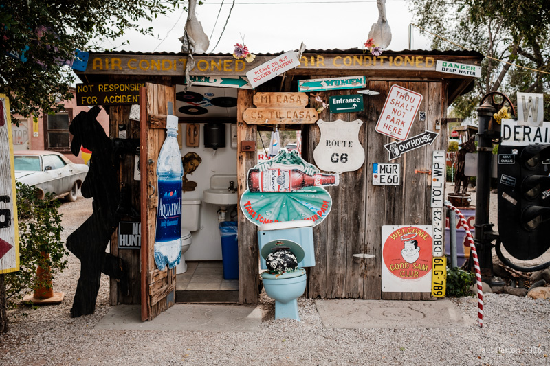Joke(?) toilets, Seligman AZ