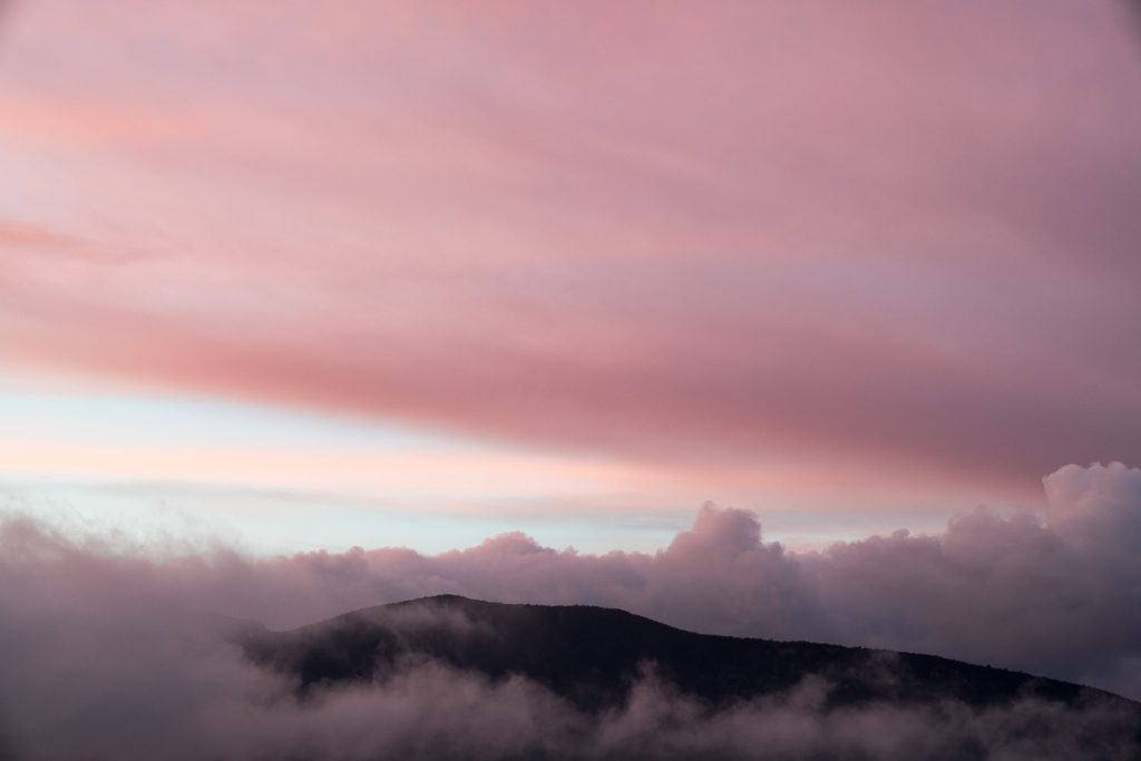This mountaintop in the clouds provides a strong counter example of the rule of thirds
