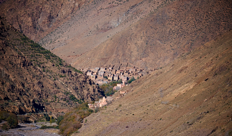Berber village, Imlil Valley, Morocco. Fujifilm 55-200mm f4.4 1:2000s