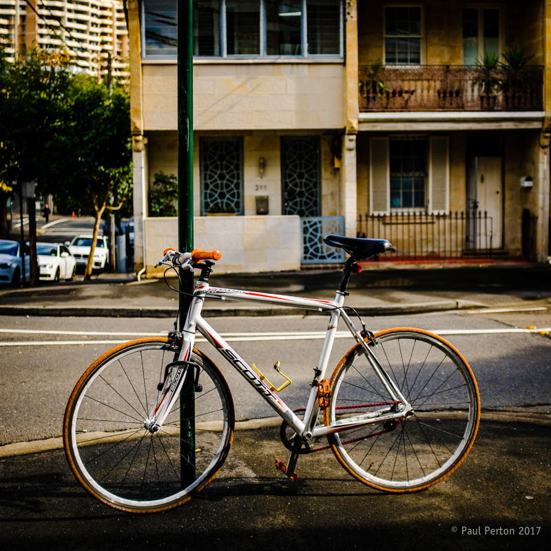 Bike in a patch of sunshine, Surry Hills - Sydney
