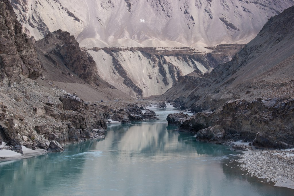 The Indus – the only river to cut through the fearsome Karakoram Range, peaceful here in late season.