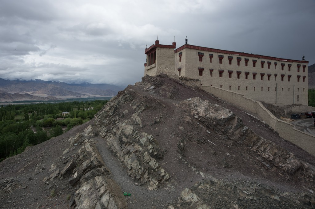 Stok Palace is a good example of traditional secular architecture in Ladakh. It is situated up a drainage valley near the base of the Stok range.