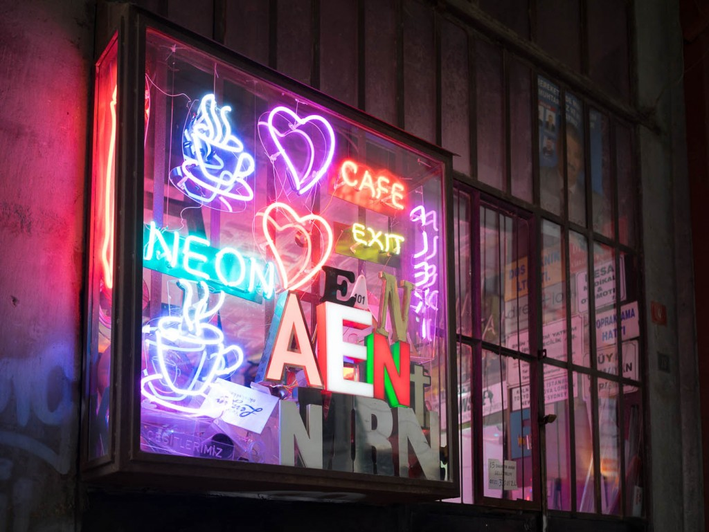 Neon gallery in Istanbul