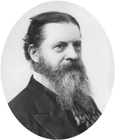 Portrait of the semiotician Charles Sanders Peirce