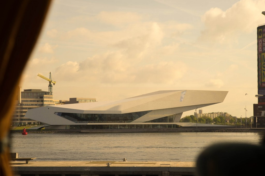 The eye museum from a bus make a nice farewell Amsterdam photo