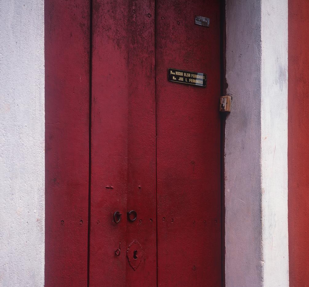 A colourful door in Fontainhas, Goa