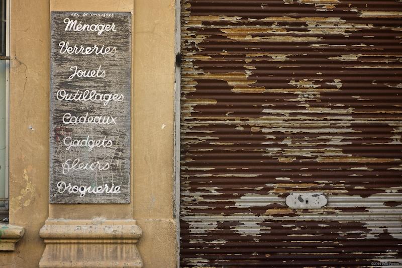 Abandoned shop - Grasse
