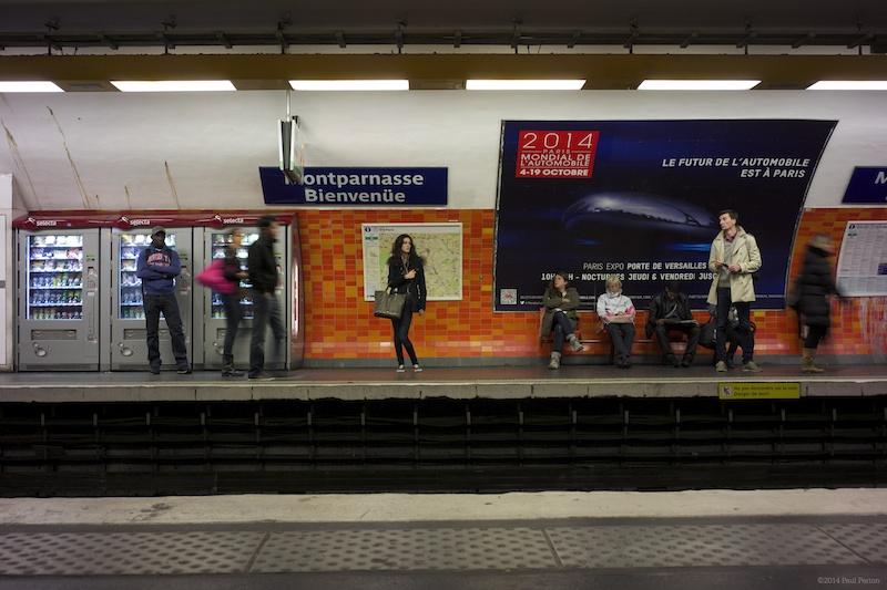 The girl with the wonky legs. Montparnasse Metro.