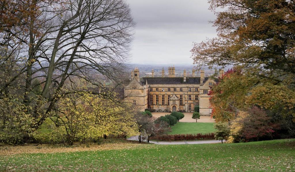 Milford estate castle in Batsford arboretum, Moreton on marsh