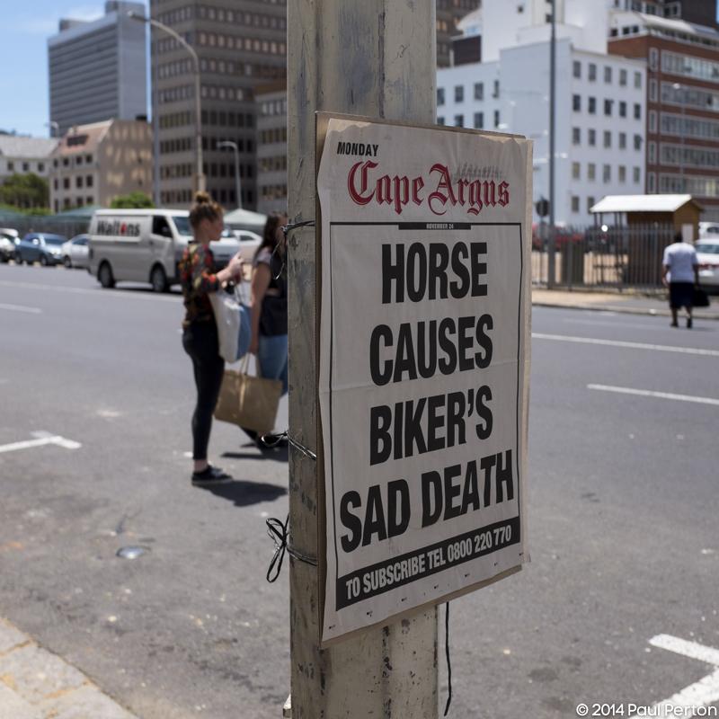 Placard, Cape Town