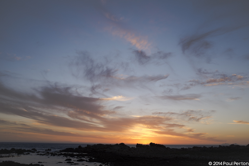 Sunset - facing west
