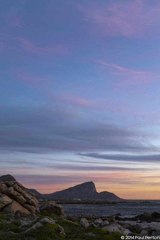 Sunset - looking south towards Hangklip