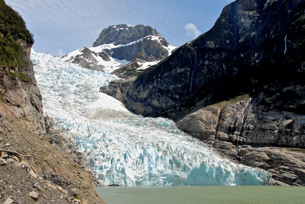 A Glacier in Torres de Paine park in south Chile, a Chilean highlight