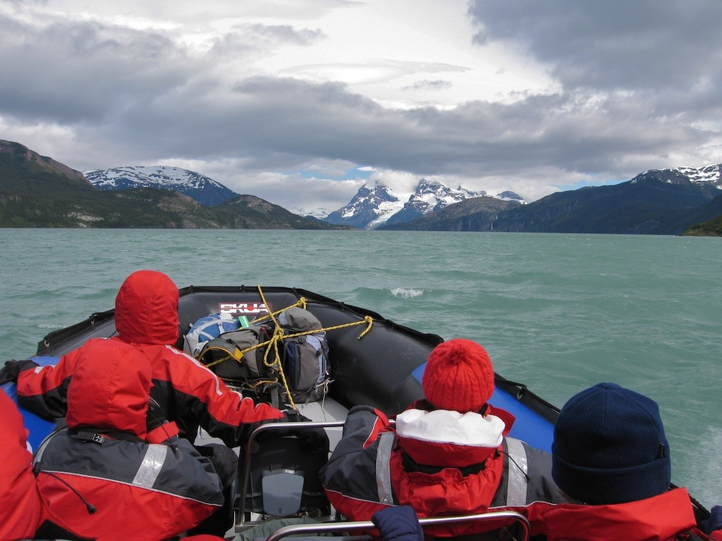 The 5 hour long Zodiac ride to Torres de Paine in Southern Chile