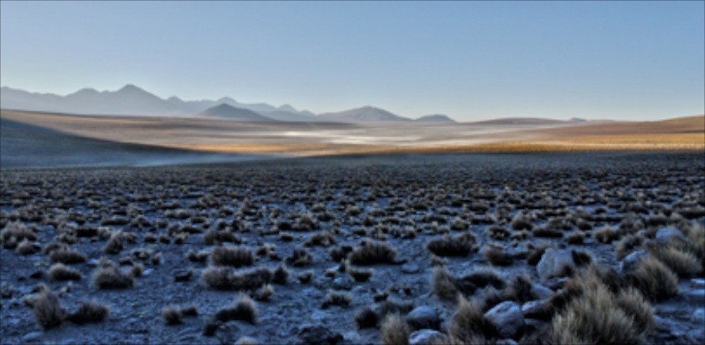 Sunrise in Chile's Atacama desert