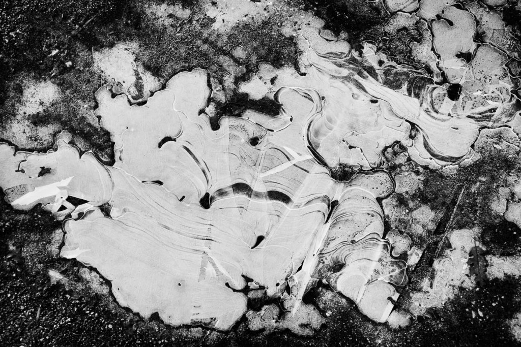 Frozen puddle in the shape of Icelad. Sony A7r and Zeiss Distagon ZM 1.4/35