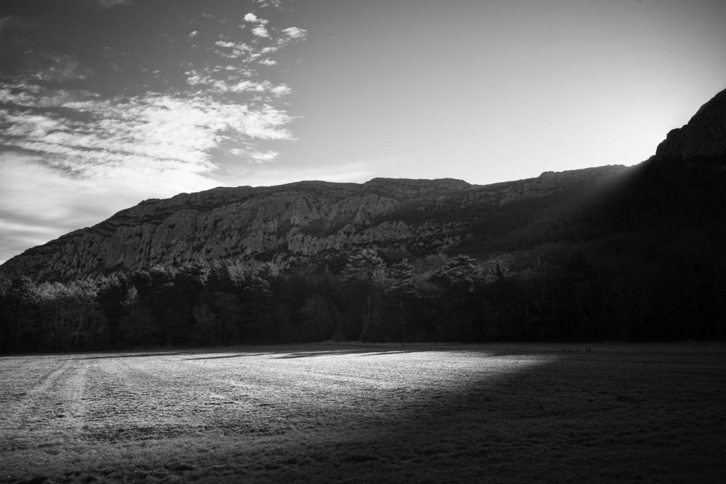 The sun rising slowly of the Sainte Baume Massif in Provence. Sony A7r with Zeiss ZM 23/1.4 Distagon T*