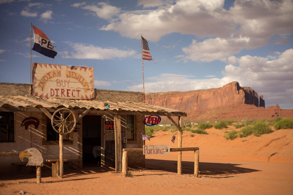 Indian Jewelry shop outside Monument Valley.