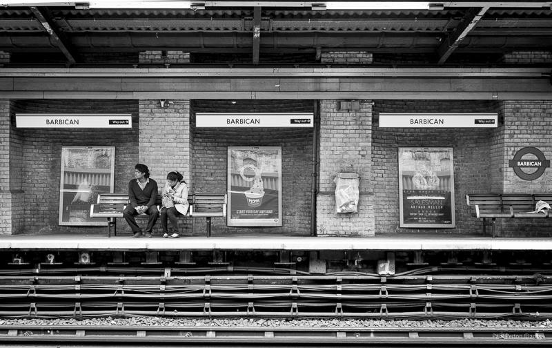 Waiting for a train; Barbican