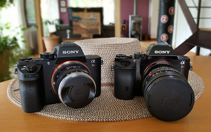 Sony A7rII (left) & Sony A7r (right)