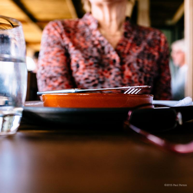 Fellow diner, resting between courses