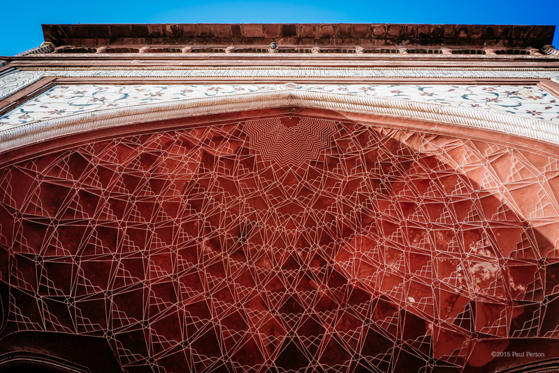 Architectural detail, the Taj. Fuji X-Pro1, 25mm Zeiss Biogon