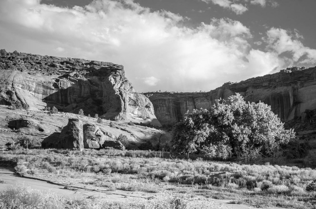 The cliffs of Canyon de Chelly at sunset