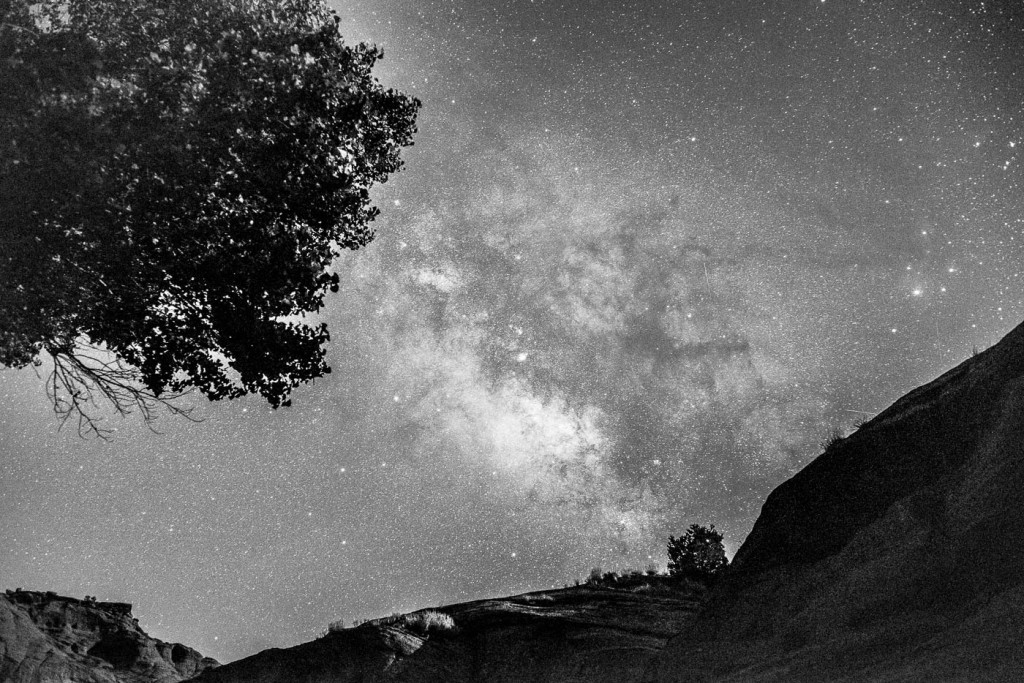 Sagittarius and the Milky Way rising above the cliffs in Canyon de Chelly