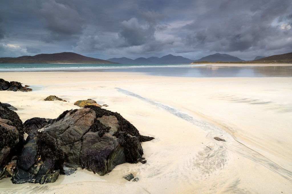 17 - South Harris - Taransay and the Mountains of North Harris from Traigh Sheileboist