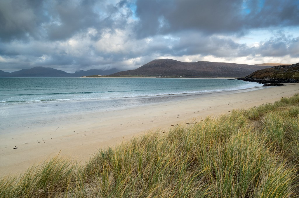 21 - South Harris - Machair, Luskentyre and the Sound of Taransay from Traigh Niosaboist