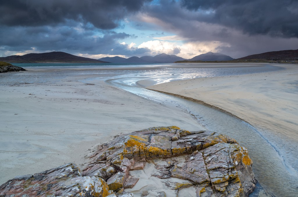 24 - South Harris - Twilight on the Island of Taransay, Luskentyre and the Mountains of North Harris from Traigh Sheileboist