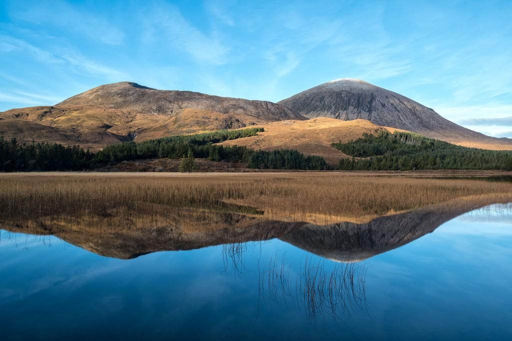 6 - Skye - the road to Elgol - Beinn Dearg Mhor and Beinn na Caillich across Loch Cill Chriosd