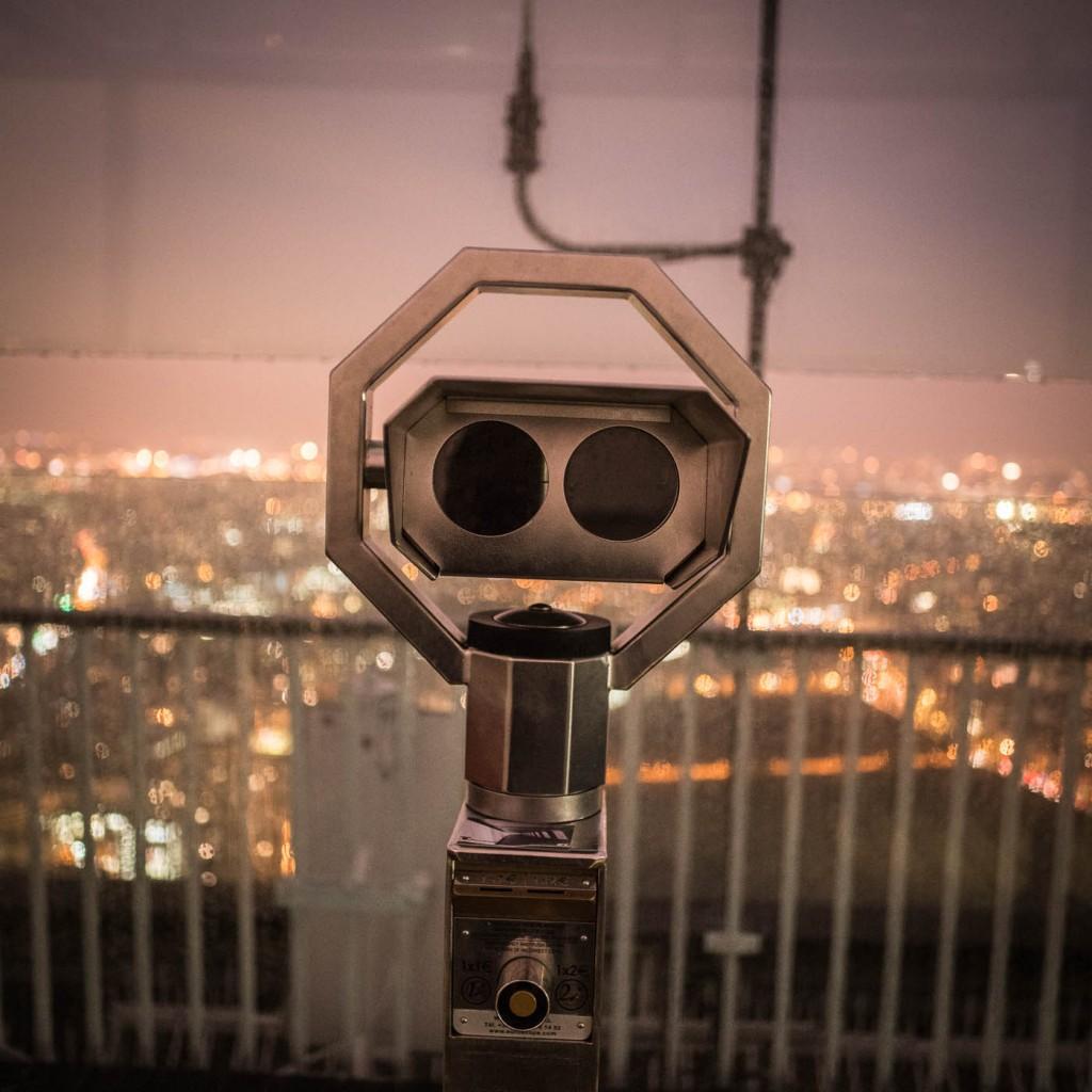Observation telescope on Tour Montparnasse, DearSusan photography workshop, spring 2016