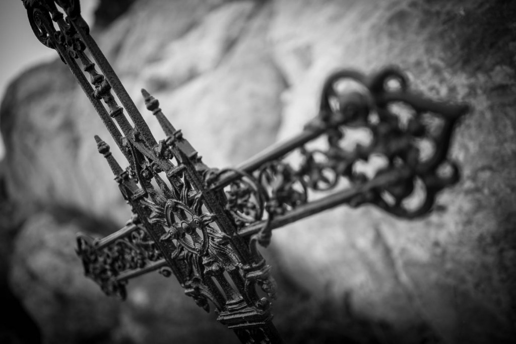 A metal cross marks the death point of a Provene Canon