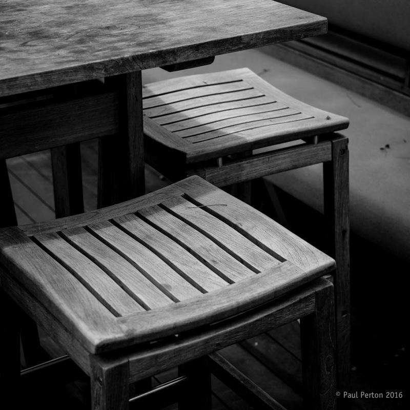 Bar stools - Singapore. X-Pro2, 35mm f1.4 @ f3.2