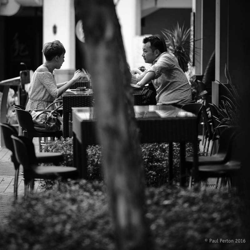 Early dinner - Singapore. X-Pro2, 90mm f2 @ f2
