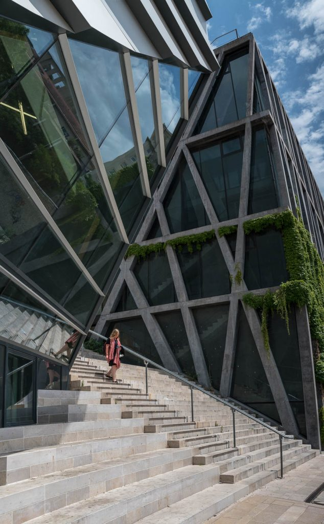 Stairs and modern architecture in Aix en Provence, Zeiss OTUS 28