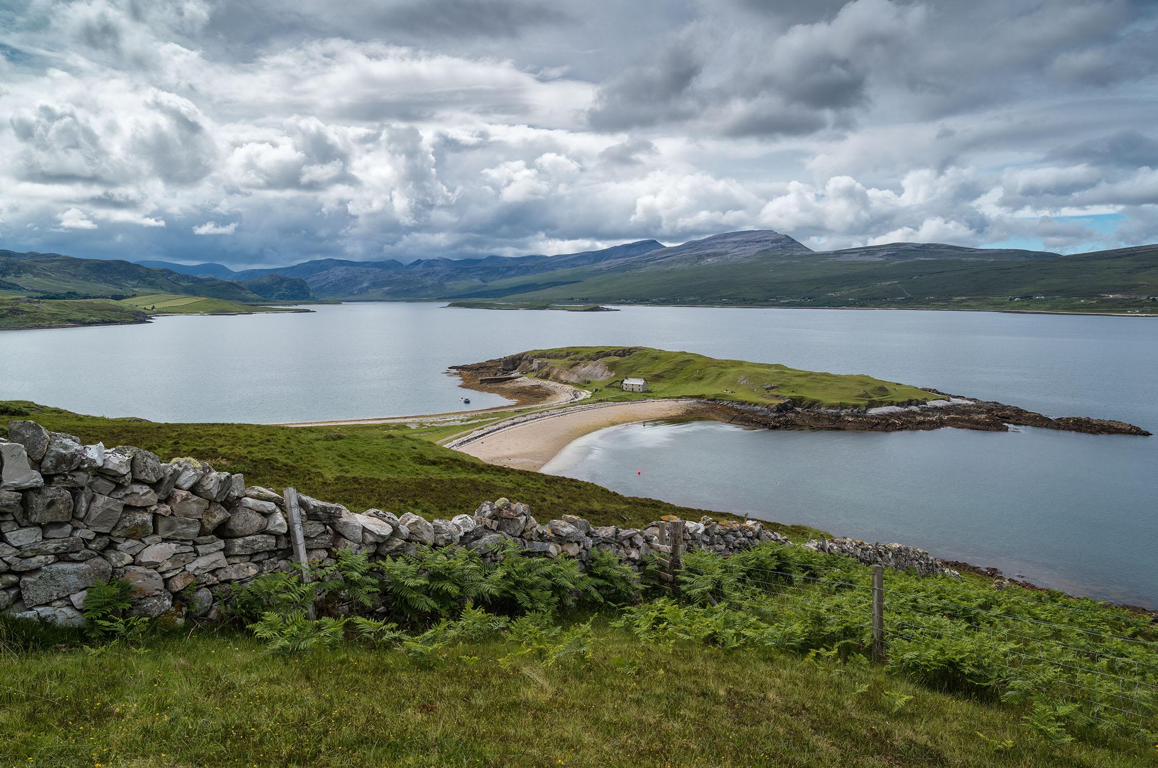 Beinn Spionnaidh, Cranstackie, Foinaven and Arkle across Loch Eriboll. Leica S2. Bob Hamilton