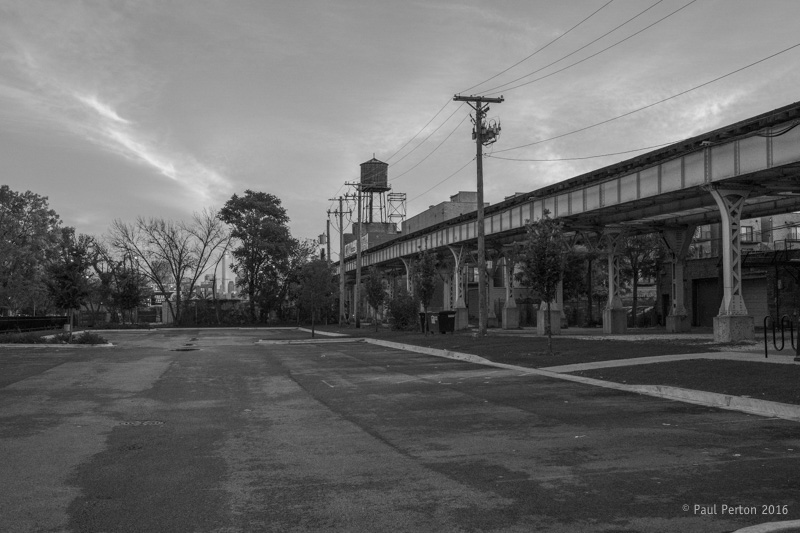 Morning car park, Bronzeville