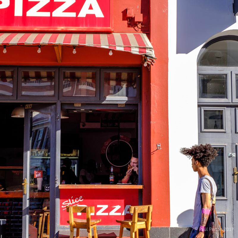 Kloof Street pizza, Cape Town