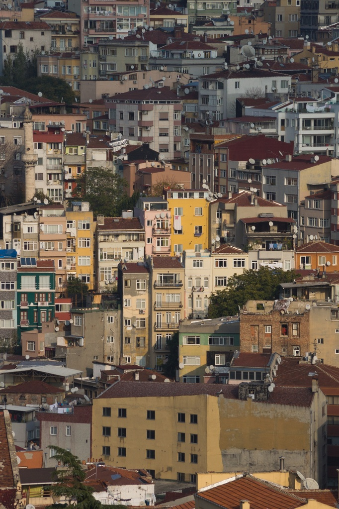 Stacked buildings of Istanbul, Turkey