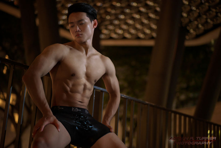 Sony A7s – Men's physique model Zhi Xiang, ISO 4000 - Adrian (Art) Turner